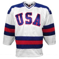 1980 US Olympic Miracle On Ice Replica Home Jersey